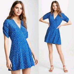Faithfull The Brand La Rochelle Mini Dress in Blue